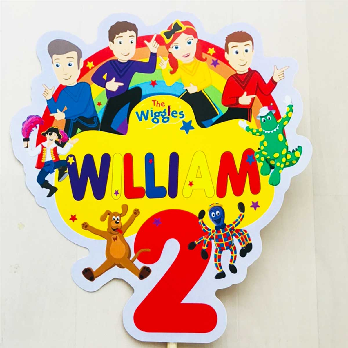 The Wiggles Personalised Cake Topper - Tic Tac Top