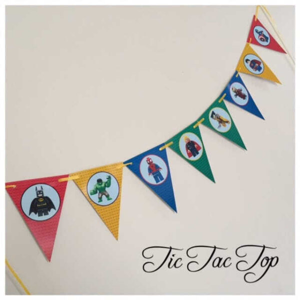 Lego Superhero Bunting Flags