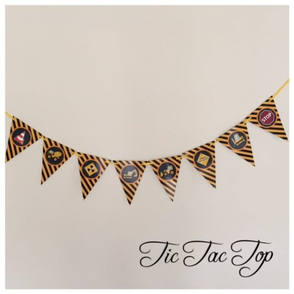 Construction Bunting Flags Banner