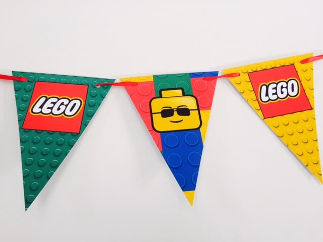 Lego Man Bunting Flags Banner