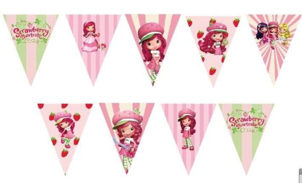 Strawberry Shortcake Bunting Flags Banner