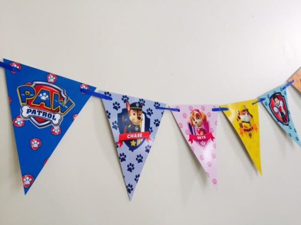 Paw Patrol Bunting Flags Banner