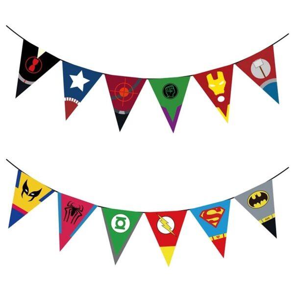 Superhero Symbols Bunting Flags Banner