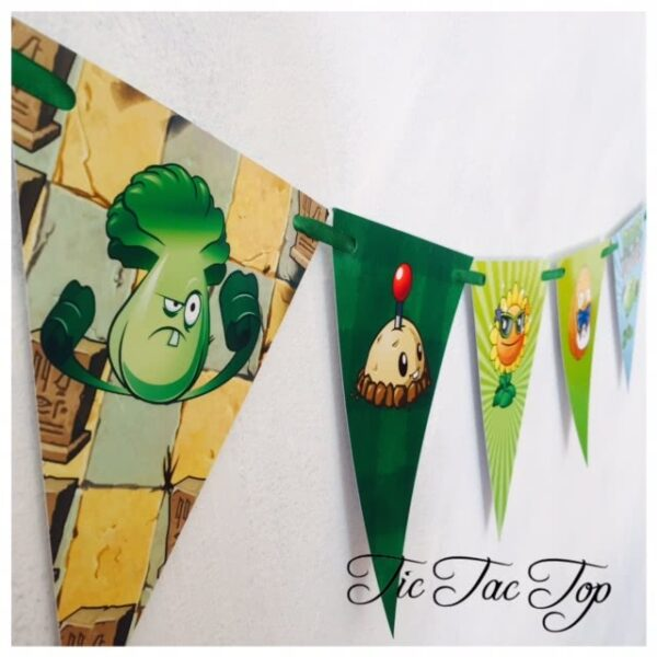 Plants Vs Zombies Bunting Flags Banner