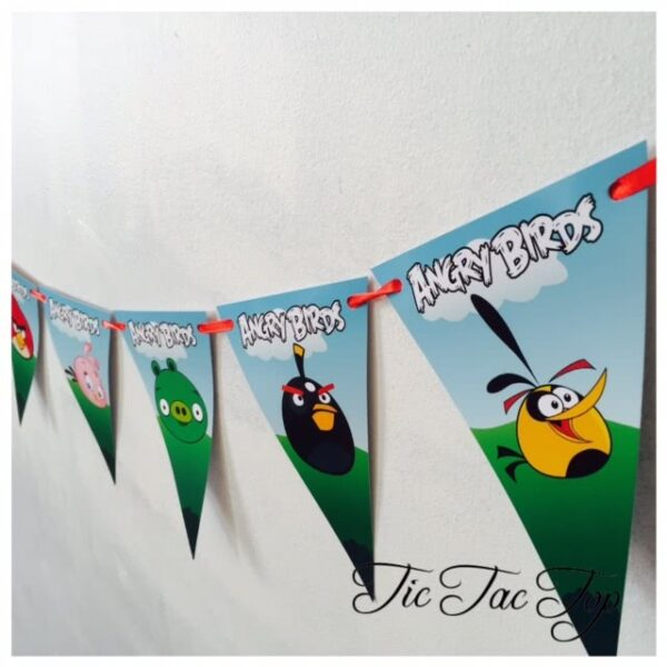 Angry Birds Bunting Flags Banner