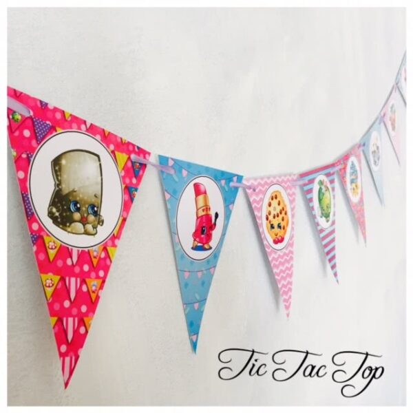 Shopkins Bunting Flags Banner