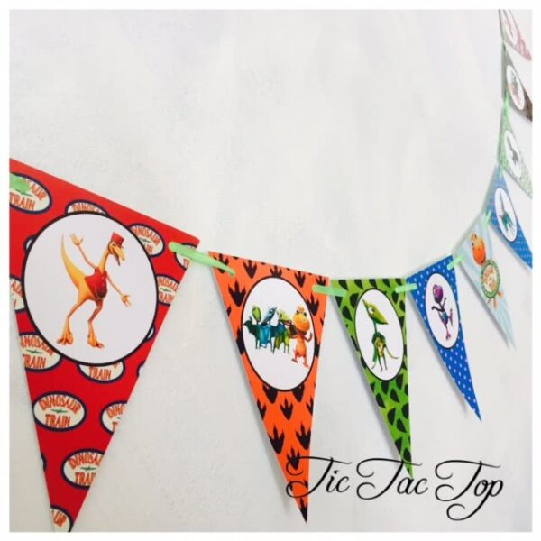 Dinosaur Train Bunting Flags Banner