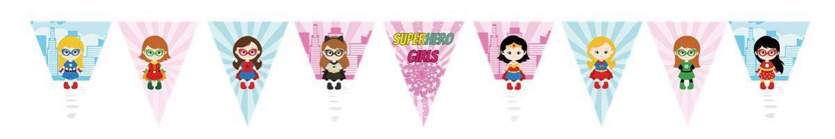 Superhero Girls Bunting Flags Banner