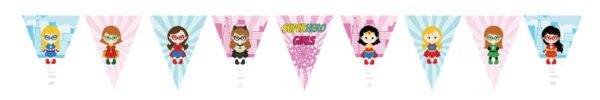 Superhero Girls Bunting Flags Banner