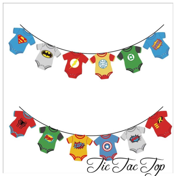 Superhero Baby Boys Bunting Flags Banner