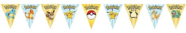 Pokemon Go Pikachu Bunting Flags Banner