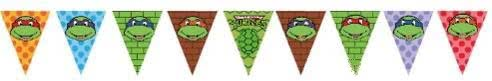 TMNT Ninja Turtles Bunting Flags Banner