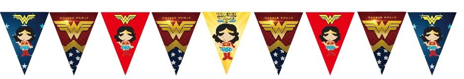 Wonder Woman Bunting Flags Banner