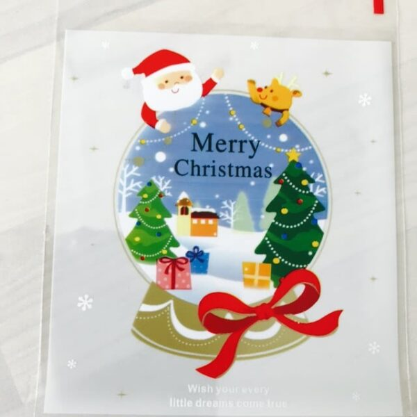 Christmas Santa Snow Cookie Lolly Bags - 20pcs