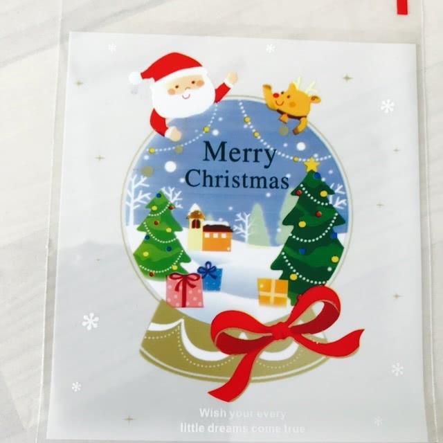 Christmas Santa Snow Cookie Lolly Bags - 20pcs