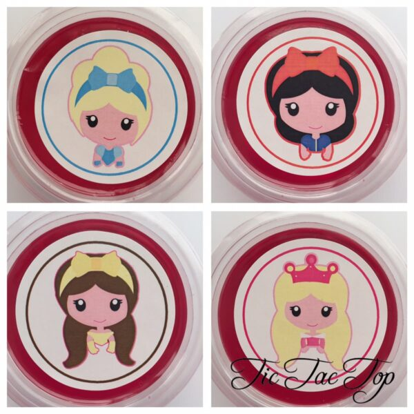 Disney Princess Cinderella Snow White Belle Aurora Jelly Cups - 12/set