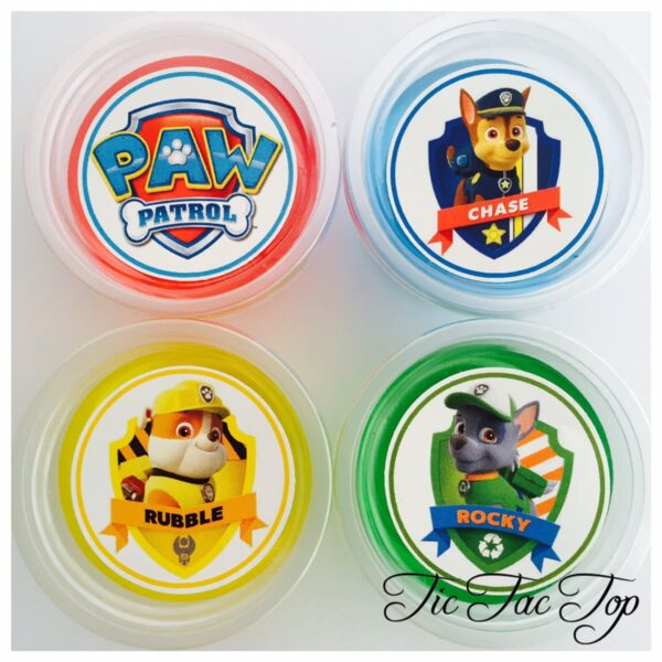 Paw Patrol Jelly Cups - 12/set