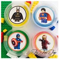 Lego Superhero Jelly Cups - 12/set