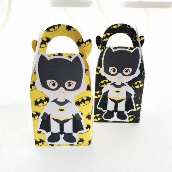 Batman Paper Gift & Lolly Box - 6 Boxes