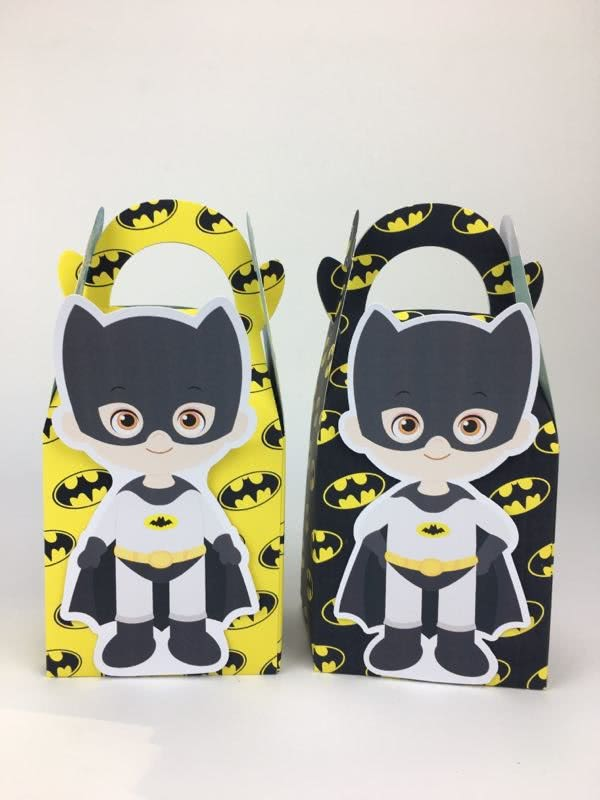 Batman Paper Gift & Lolly Box - 6 Boxes