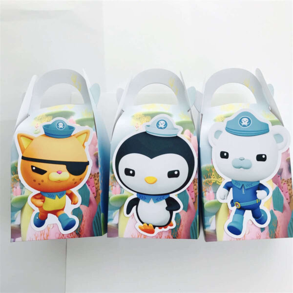 The Octonauts Paper Gift & Lolly Box - 6 Boxes