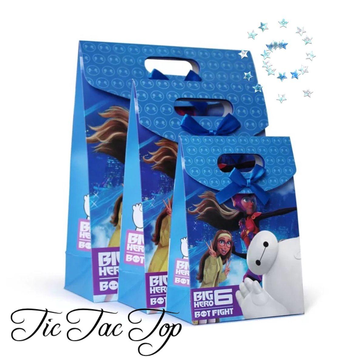 Big Hero 6 Paper Gift & Lolly Bag - 6 Bags