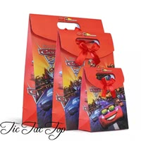 Disney CARS Paper Gift & Lolly Bag - 6 Bags