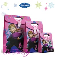 Disney FROZEN Pink Anna Elsa Paper Gift & Lolly Bag - 6 Bags
