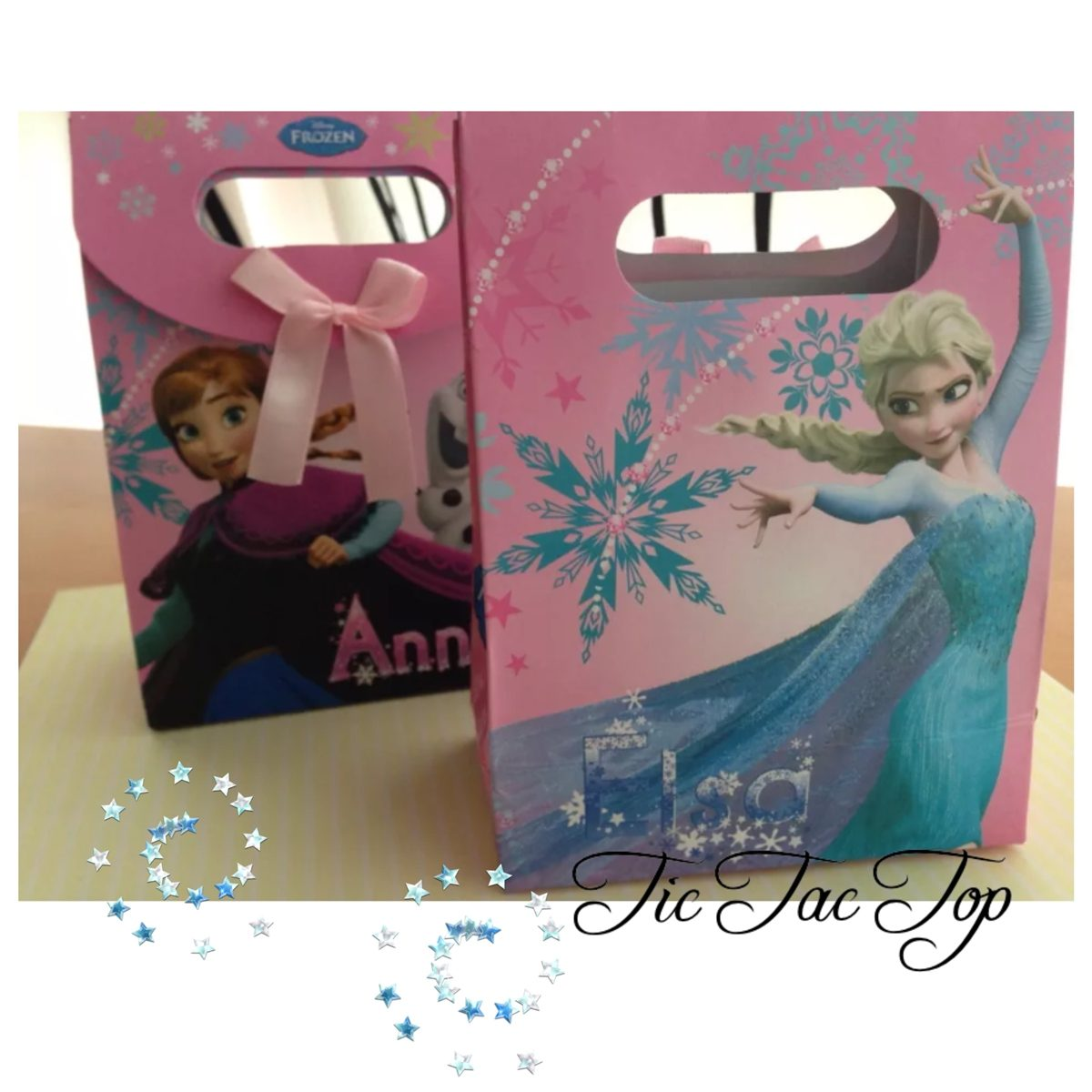 Disney FROZEN Pink Anna Elsa Paper Gift & Lolly Bag - 6 Bags