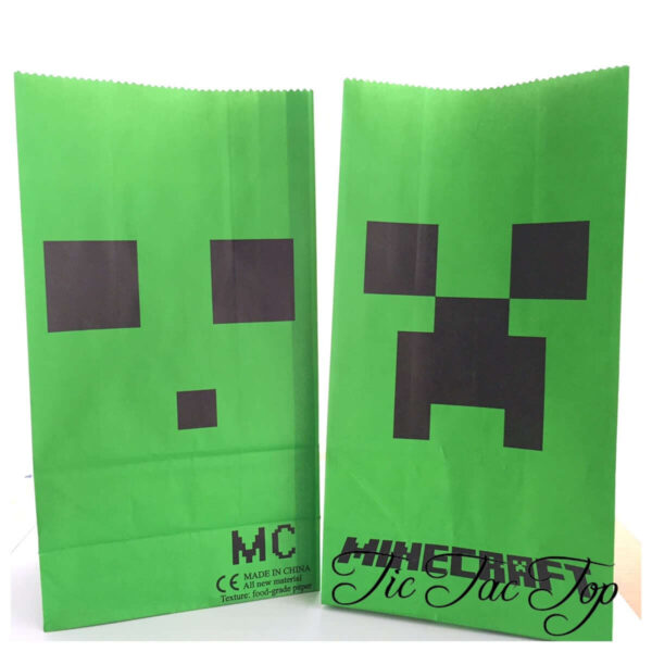 Minecraft Paper Lolly Bag - 6 Bags