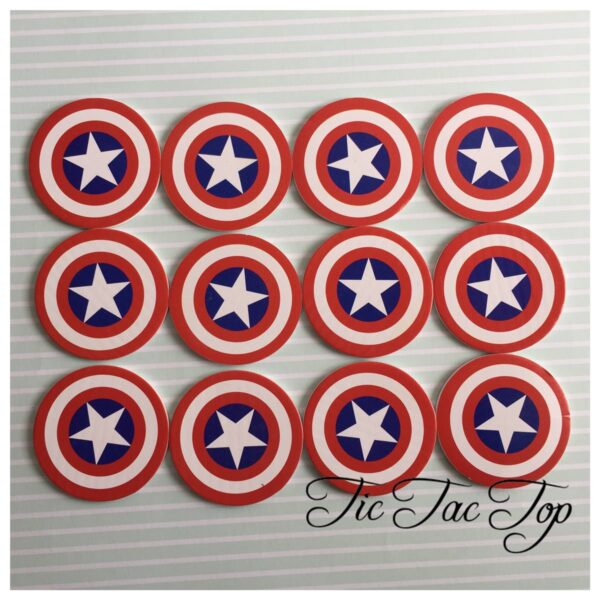 Captain America Avengers Form TOPPERS - 12pcs