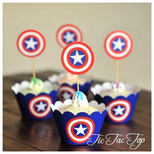 Captain America Avengers Form TOPPERS - 12pcs