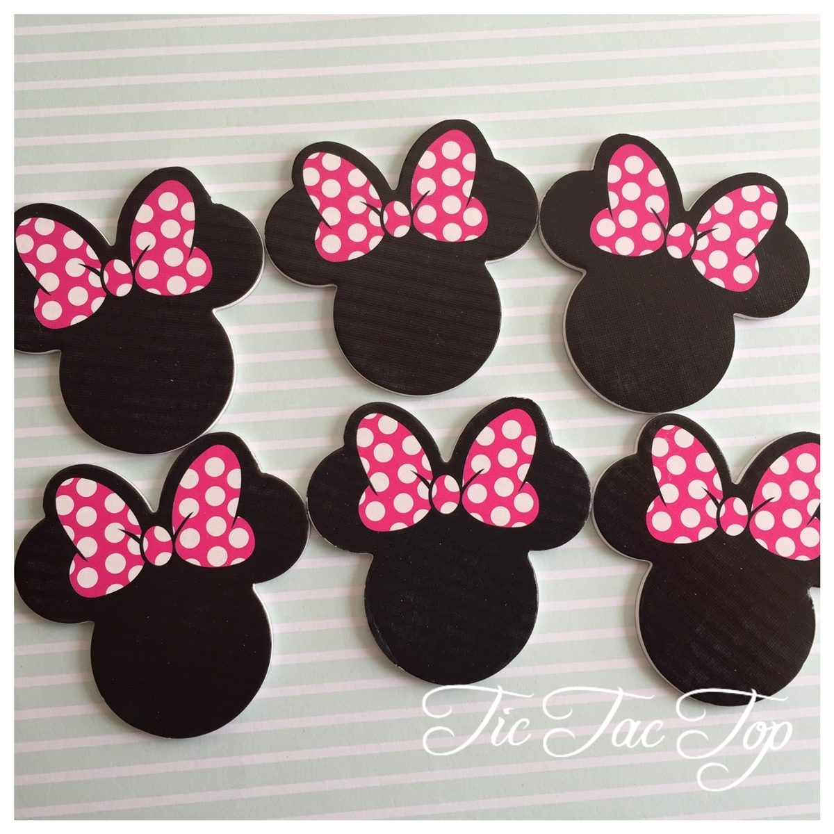 Minnie Mouse Disney Form TOPPERS - 12pcs