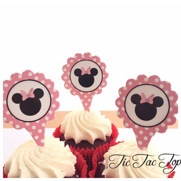 Minnie Mouse Card Toppers - 12pcs