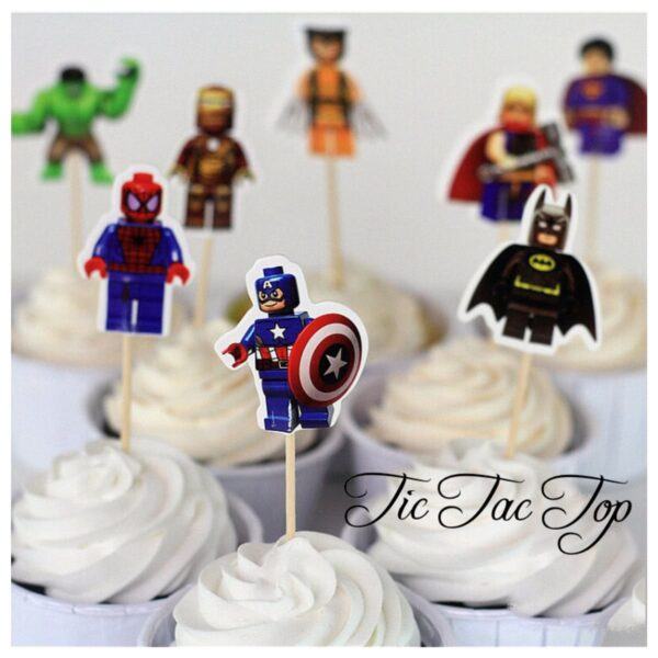 Superhero Avengers Lego Topper Picks - 12pcs
