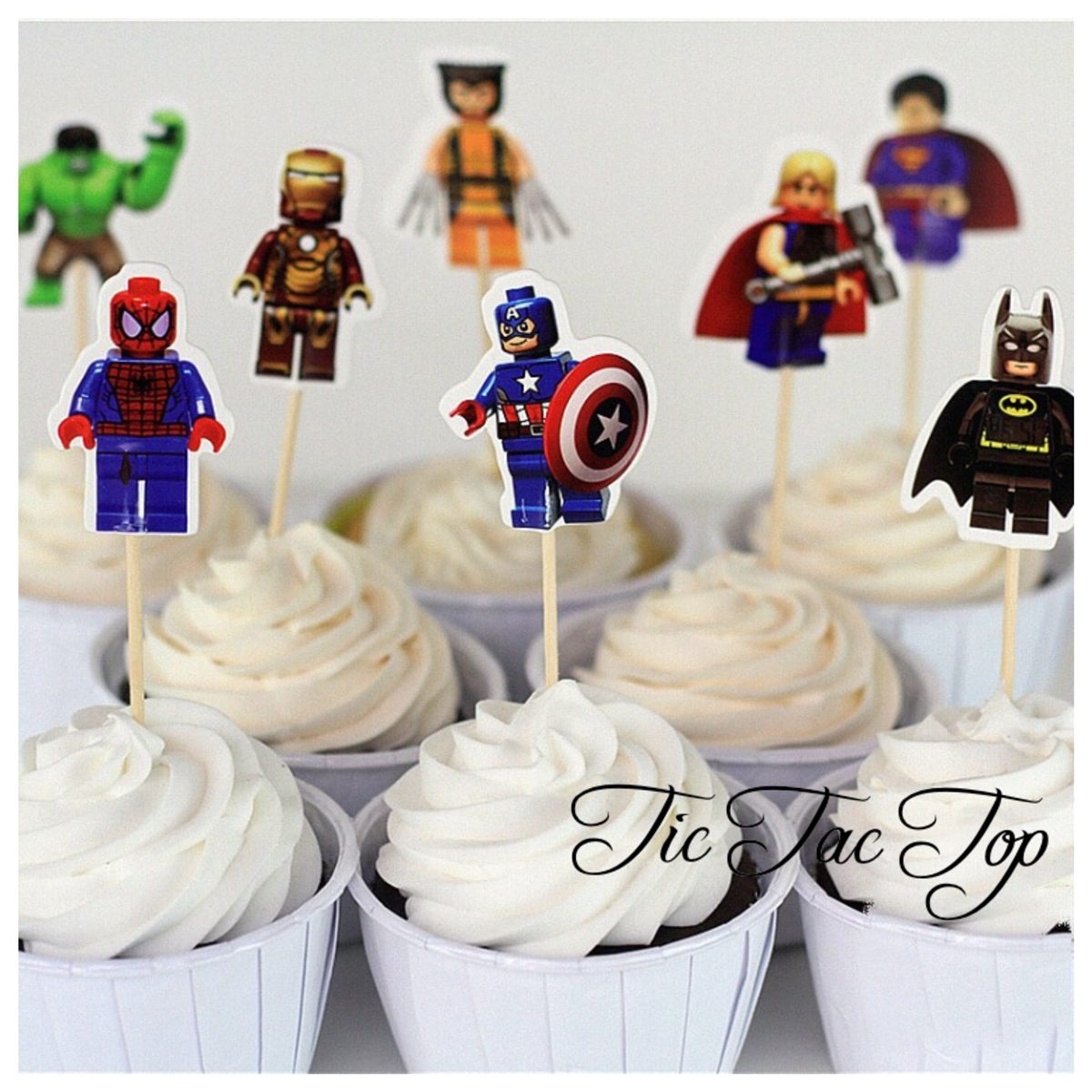 Superhero Avengers Lego Topper Picks - 12pcs