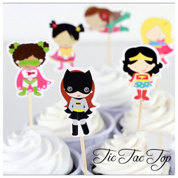 Superhero Girls Topper Pick - 12pcs