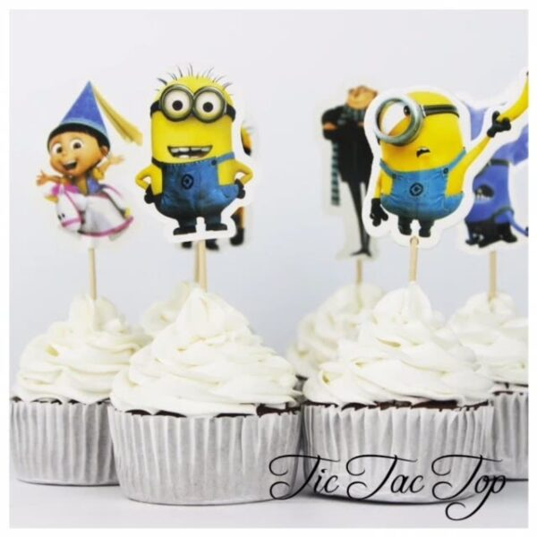 Minions Despicable Me Characters Topper Picks - 12pcs