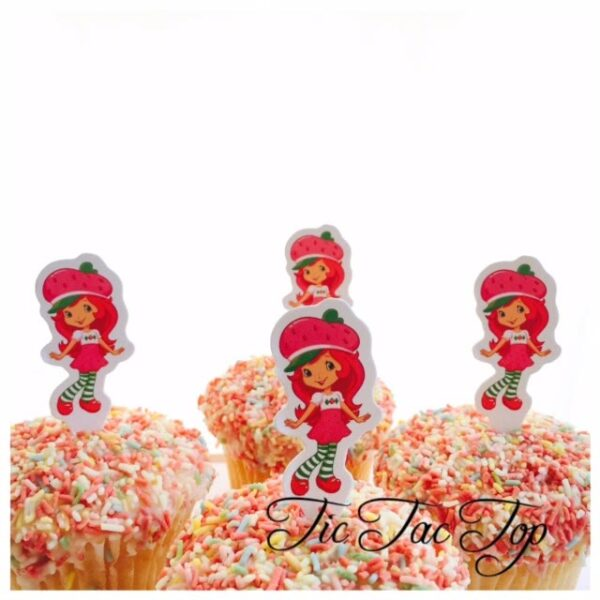 Strawberry Shortcake Card Toppers - 12pcs