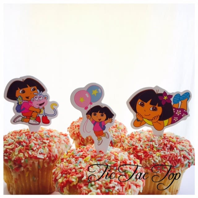 Dora The Explorer Card Toppers - 12pcs