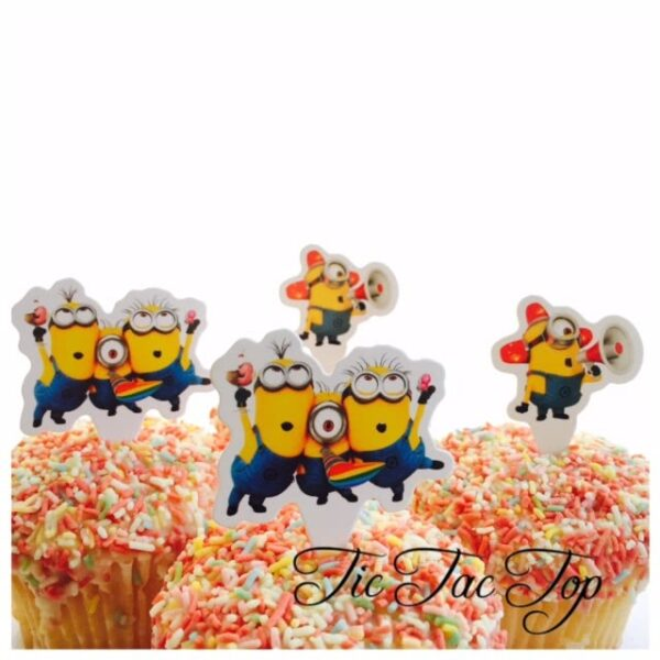 Minions Despicable Me Card Toppers - 12pcs