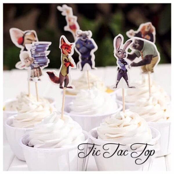 Zootopia Topper Pick - 12pcs