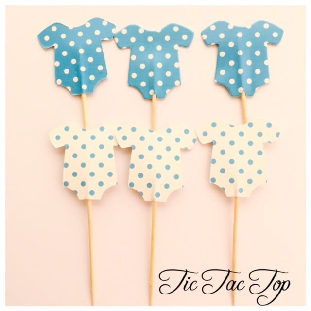 Baby Shower BOY BLUE Topper Pick - 12pcs