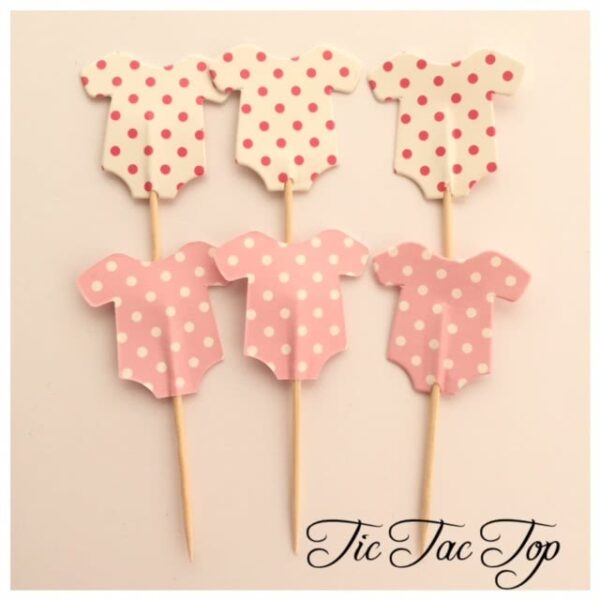 Baby Shower GIRL PINK Topper Pick - 12pcs