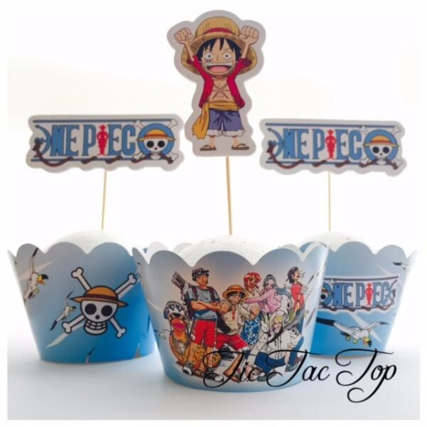 One Piece Manga Cupcake Wrappers + Toppers