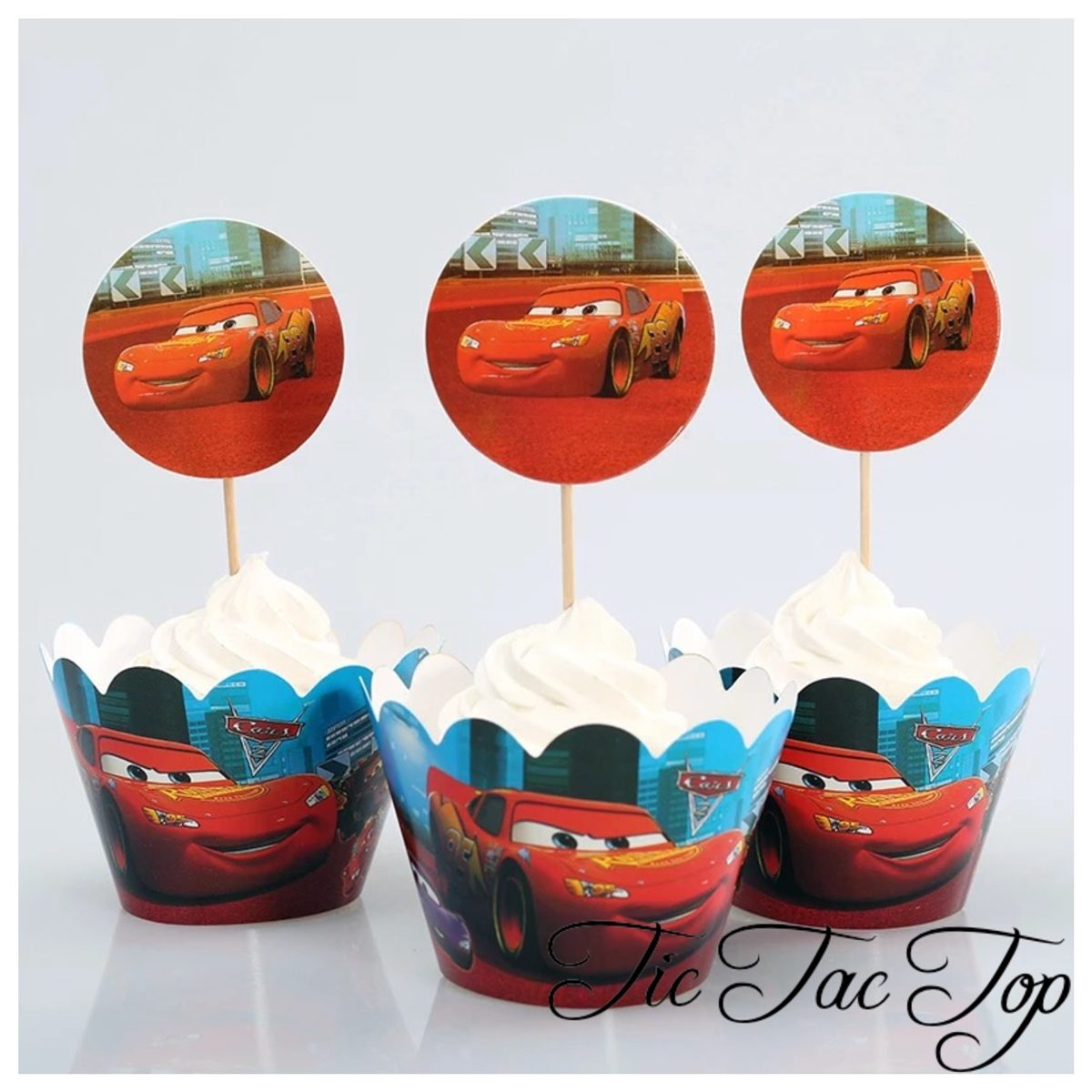Disney Cars Cupcake Wrappers + Toppers
