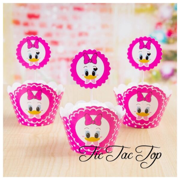 Disney Daisy Duck Cupcake Wrappers + Toppers