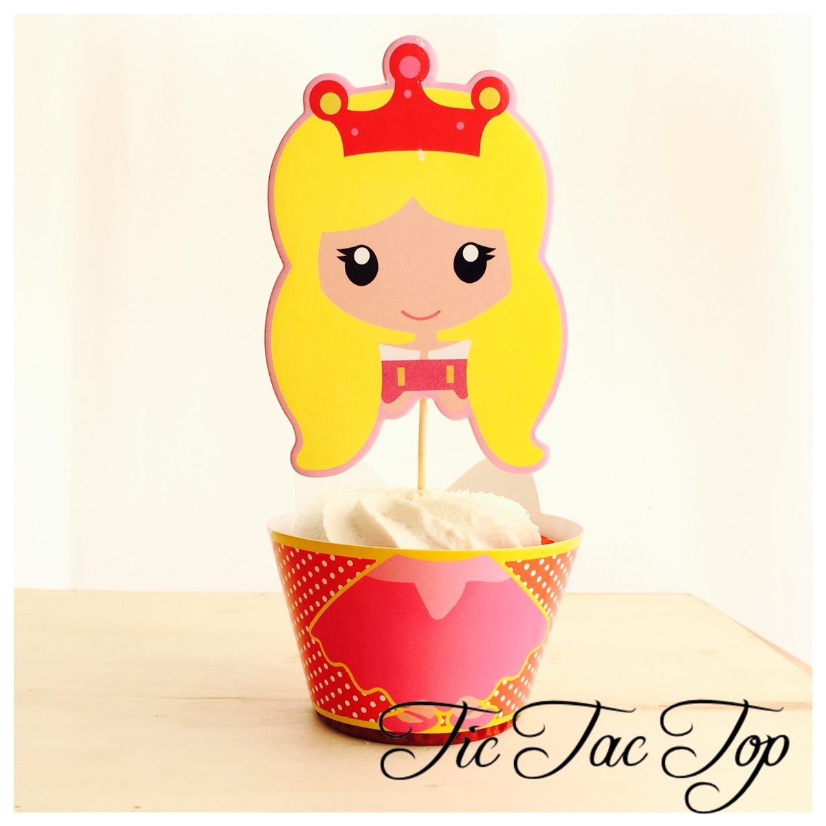 Disney Princess Aurora The Sleeping Beauty Cupcake Wrappers + SUPER BIG Toppers