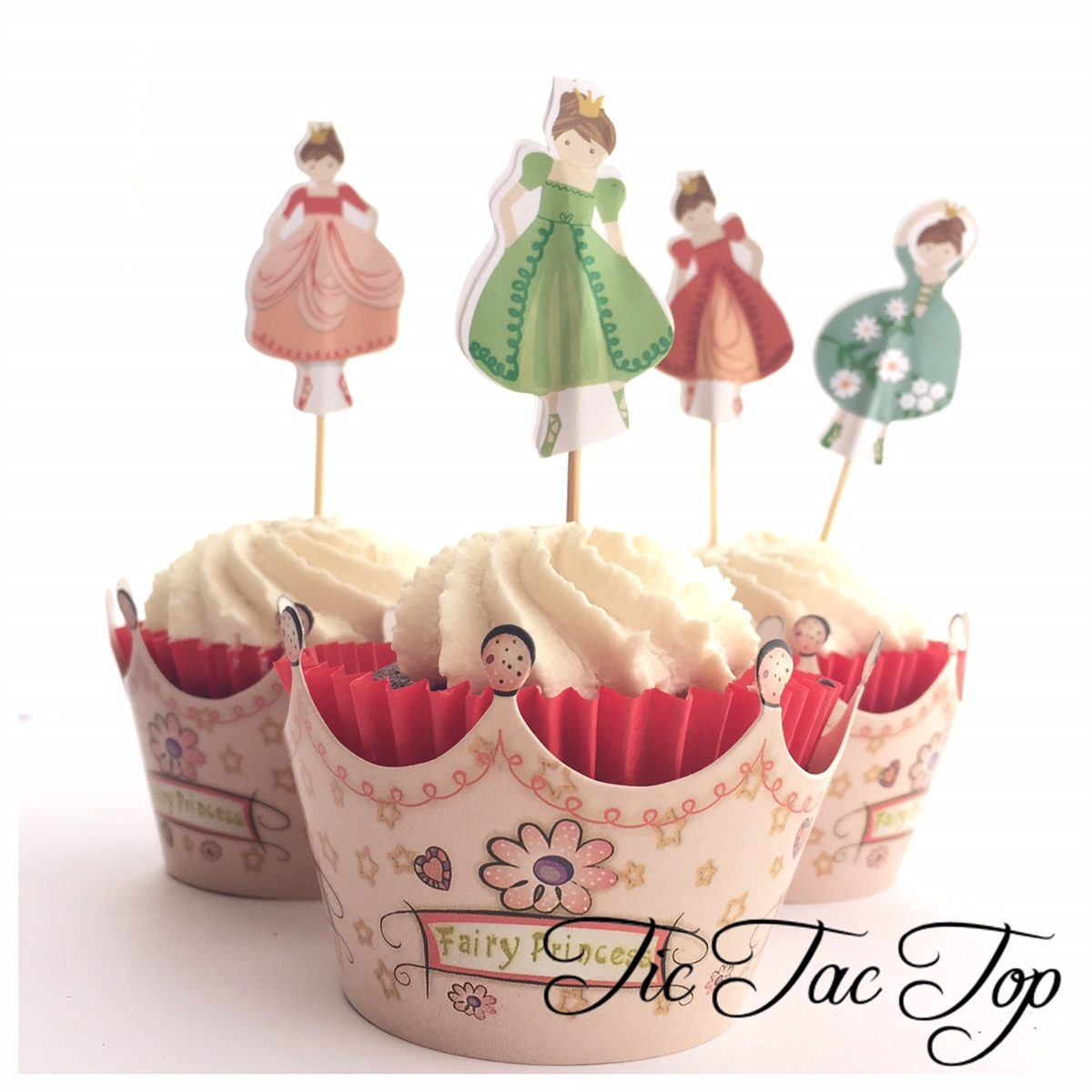 Fairy Princess Cupcake Wrappers + Toppers