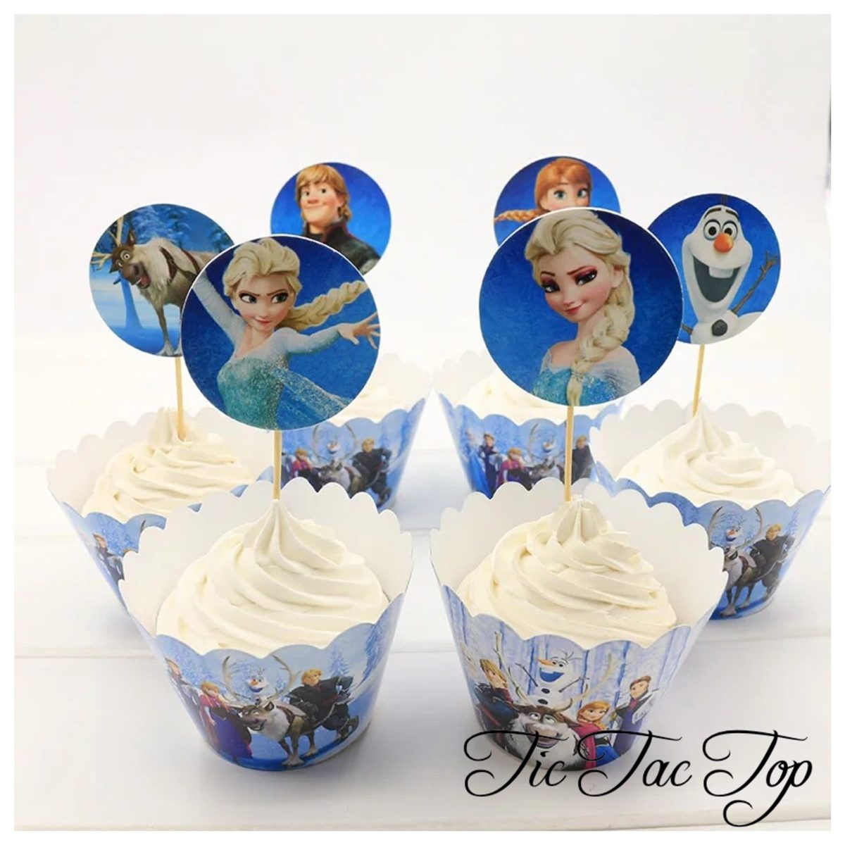 Frozen with Elsa & Anna Wrappers + Toppers